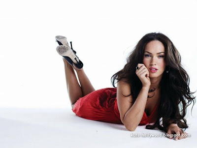 megan fox transformers 2 white dress. in Red and White dress.