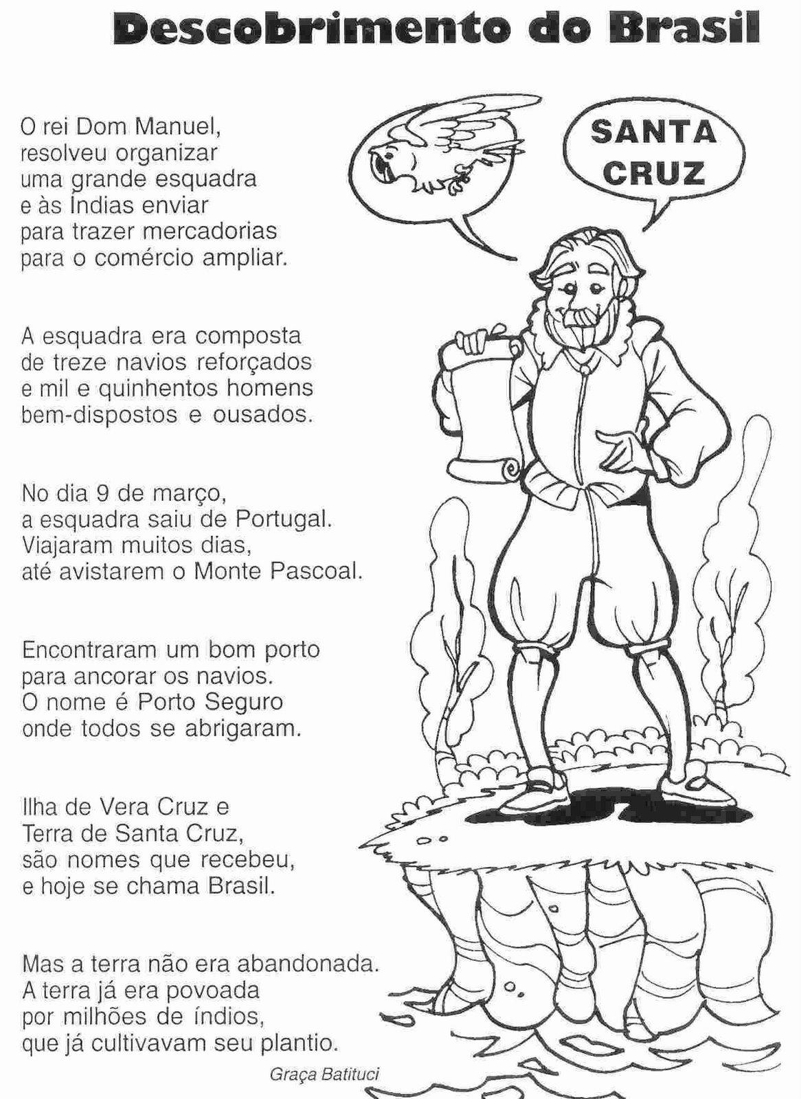 Atividades De Hist  Ria   Descobrimento Do Brasil