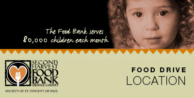 HOM Real Estate Group FOOD DRIVE Second Harvest Food Bank