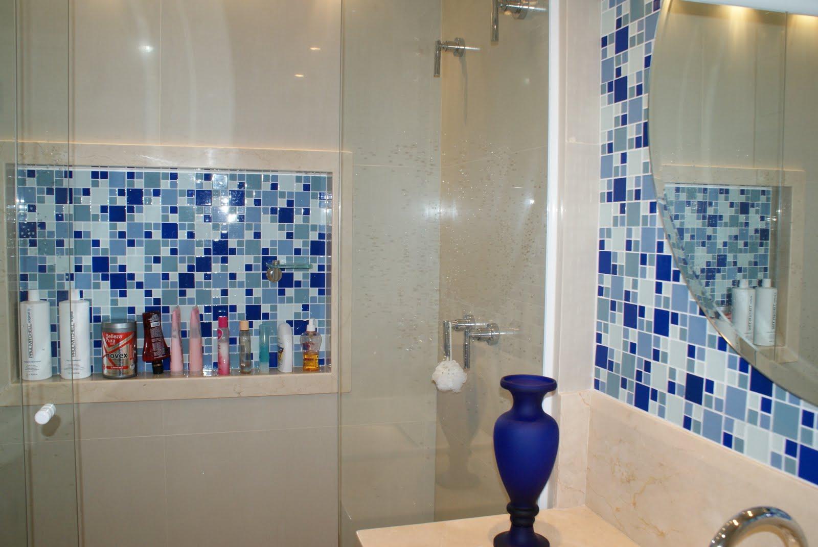 banheiro decorado #1A2D6F 1600x1071 Arquitetura Banheiros Decorados