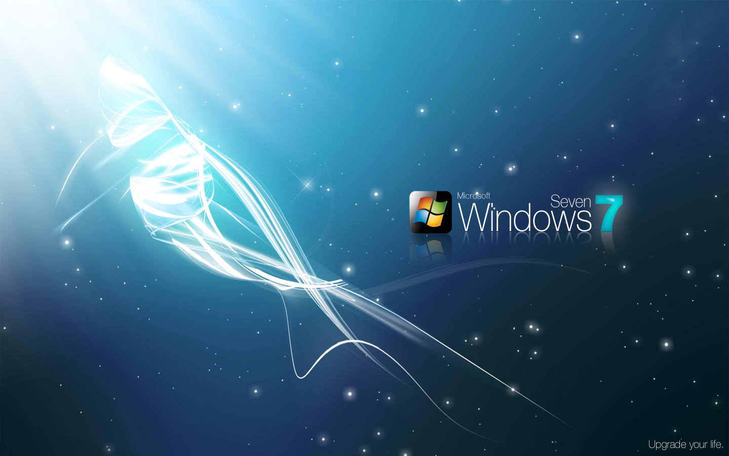 windows seven 7 original wide hd wallpapers - Windows 7 Ultimate Bright Black HD desktop wallpaper