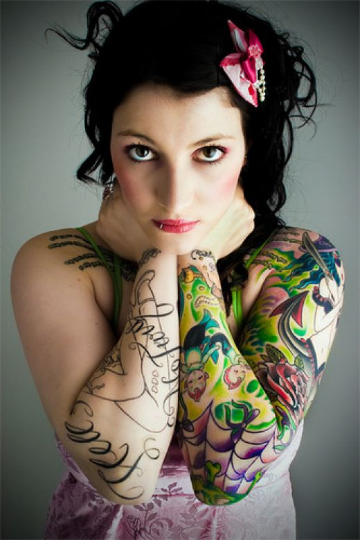 sleeve tattoos for girls. idea for a sleeve tattoo,