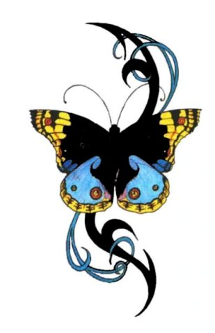 tribal tattoo butterfly. Butterfly Tattoos Designs On