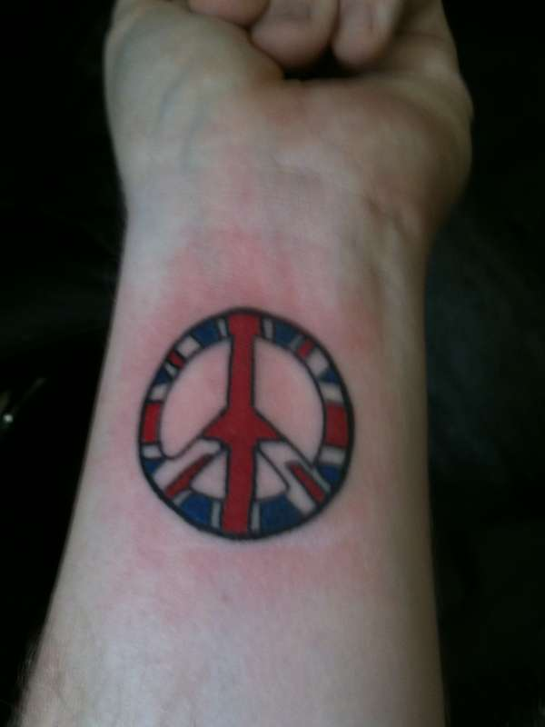 Last Of My Peace Symbol Tattoos Is This Awesome British Wrist Tattoo