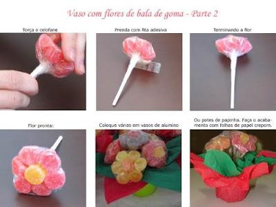 flor de jujuba2 Aprenda a fazer: flores de jujuba para crianças