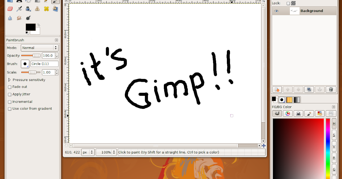 GIMP: Welcome to the GIMP world