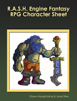 R.A.S.H. Engine Fantasy RPG Character Sheet cover