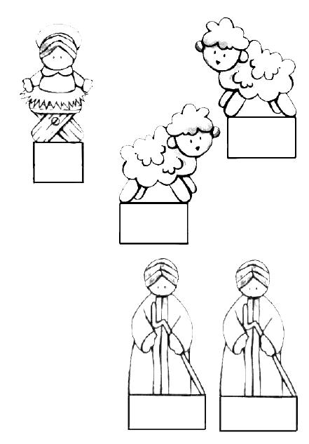 Belen navide o para recortar y colorear web pedag gica - Belen navideno manualidades ...