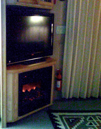 RETIRE IN STYLE BLOG: Park Model Living...a fireplace and more!