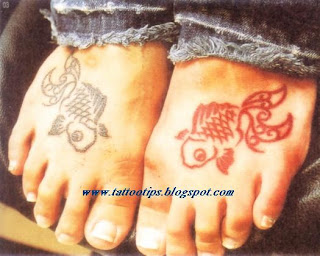 Fish on Foot Tattoos