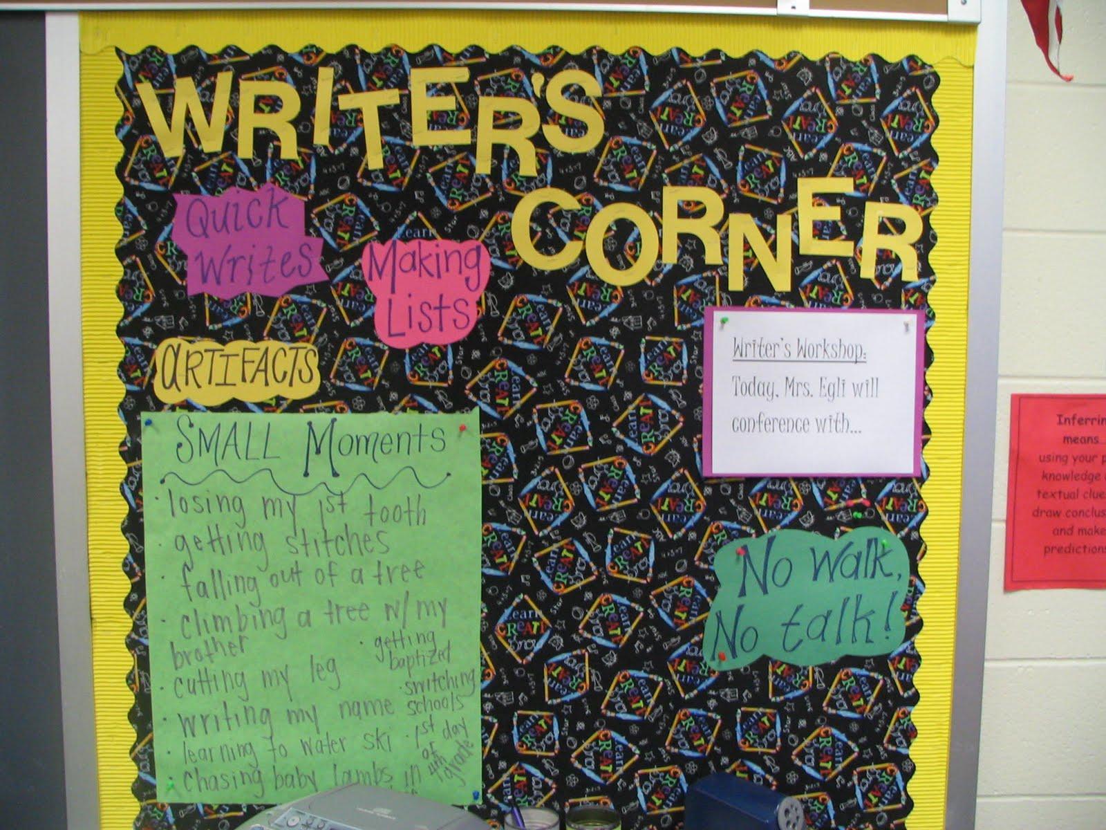 Mrs egli 39 s class blog november 2009 - Writing corner ideas ...