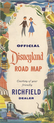 This Map Doesn T Have A Date But Must Be From 1955 As It Mentions The Fabulous New Disneyland Hotel I Can Never Get Enough Of The Early Disneyland