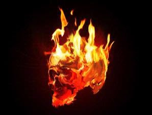 Create an image skull like Ghost Rider