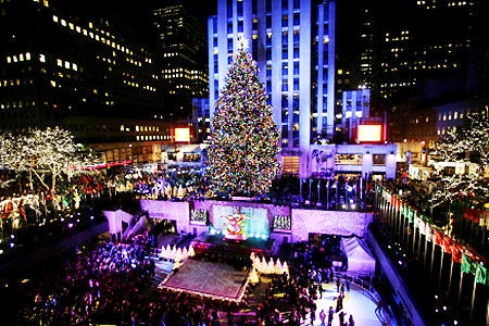 Christmas in new york city 2013 tree dinner attractions lights