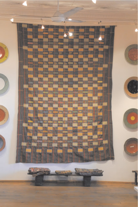 Ewe cloth - Clementina van der walt Plates and more cloths on the bench.....