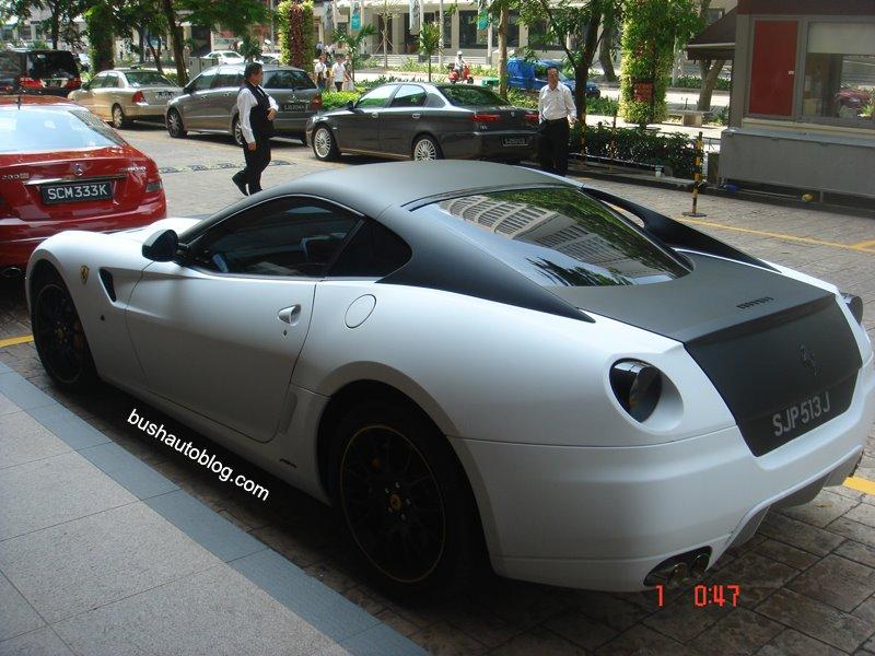 matte white black ferrari 599 gtb sgforumscom - Matte Black Ferrari 599