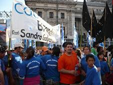 Apoyo a Cristina en Plaza Dos Congresos