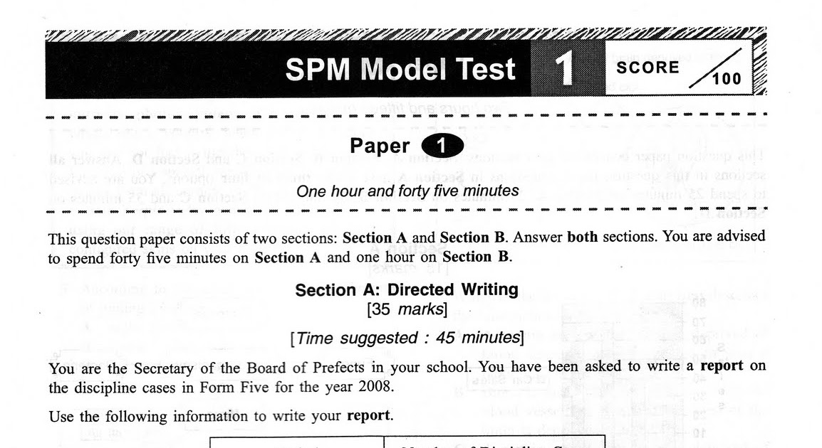 spm english essays models