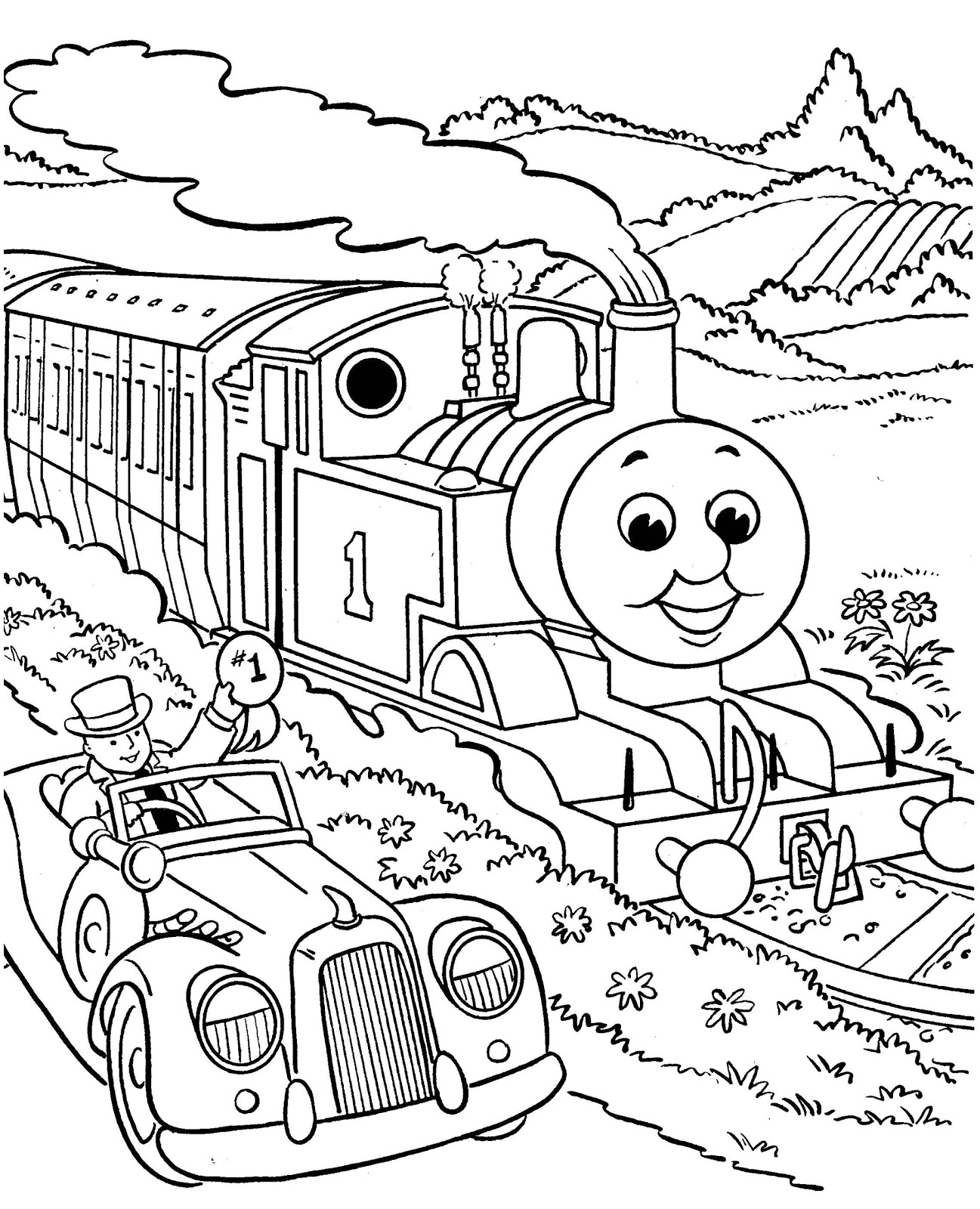 Free printable coloring pages for boys coloring pages for Printable thomas the train coloring pages