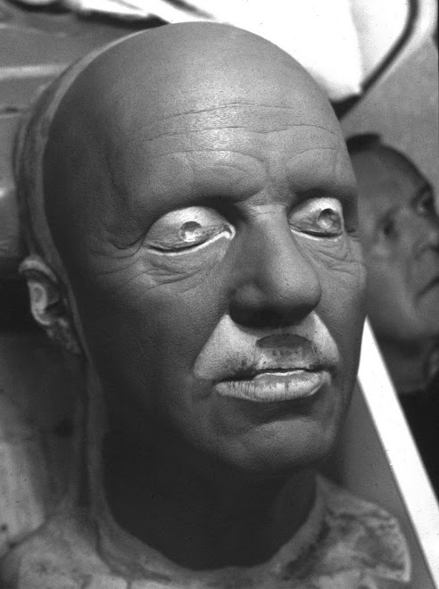 anthony hopkins likeness stunt mask sculpt. for 'The mask of zorro'