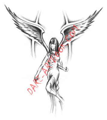 angel tattoo design 2