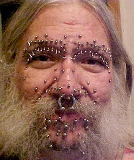 piercings on face