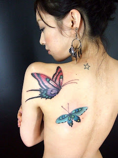 Butterfly Girl Japanese Tattoo