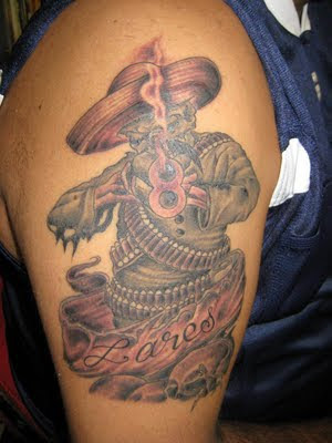 If I see this Arm Tattoo design, I think that he likes
