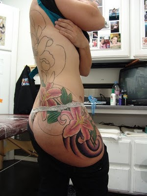 best Stargazer Lilies Tattoo design for Sexy Girl