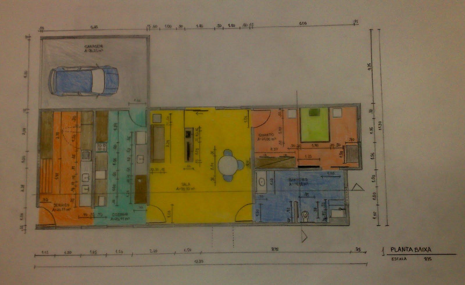 Ergonomia na cidade de Fortaleza: Projeto de residência adaptada ao  #6F4B22 1600 982