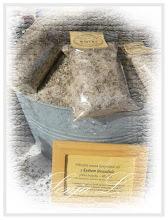 Sůl s kvítky levandule do koupele,trh