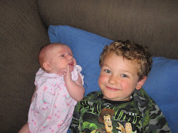 Sean listening to Evie's problems as she waits for a bubba :)