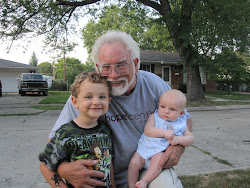 Sean, Grandpa Jim & Evie