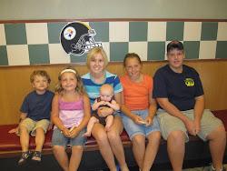 Sean, Hannah, Sam, Evie, Mackenzie & Tyler at Eat'n Park