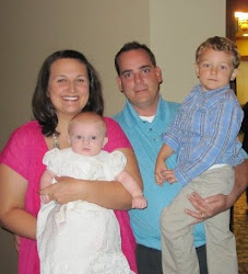 Mommy, Daddy, Sean & Evie at Evie's Dedication