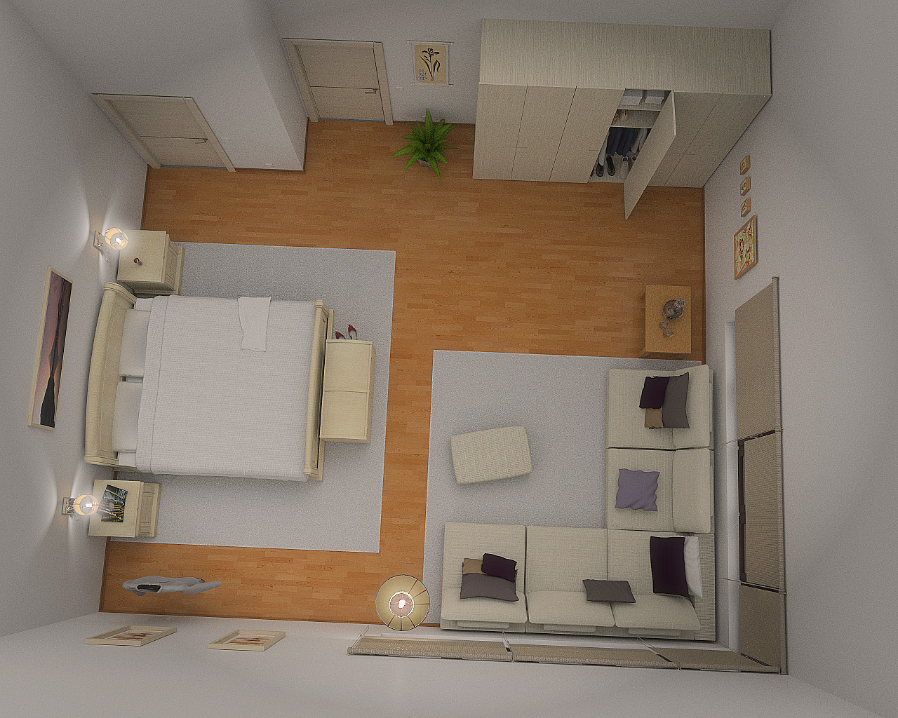 3d interior design models by paz sieiro for 3d decoration models