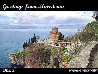 Greetings From Macedonia - Ohrid (Ohrid Lake, St. Jovan - Kaneo)