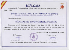 CERTIFICADO DE CURSO IMPARTIDO POR COMISARIO ERNESTO SANTAMARIA