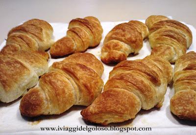 la ricetta del croissant