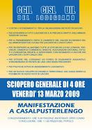 SCIOPERO GENERALE 13-03-2009