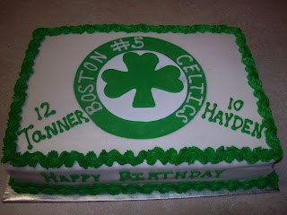 Lucettas Legacy Boston Celtics Cake