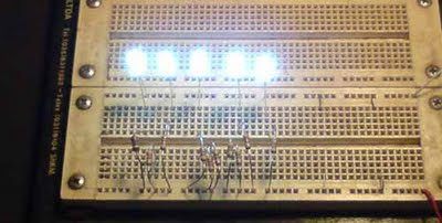 Teste dos LEDs no Protoboard