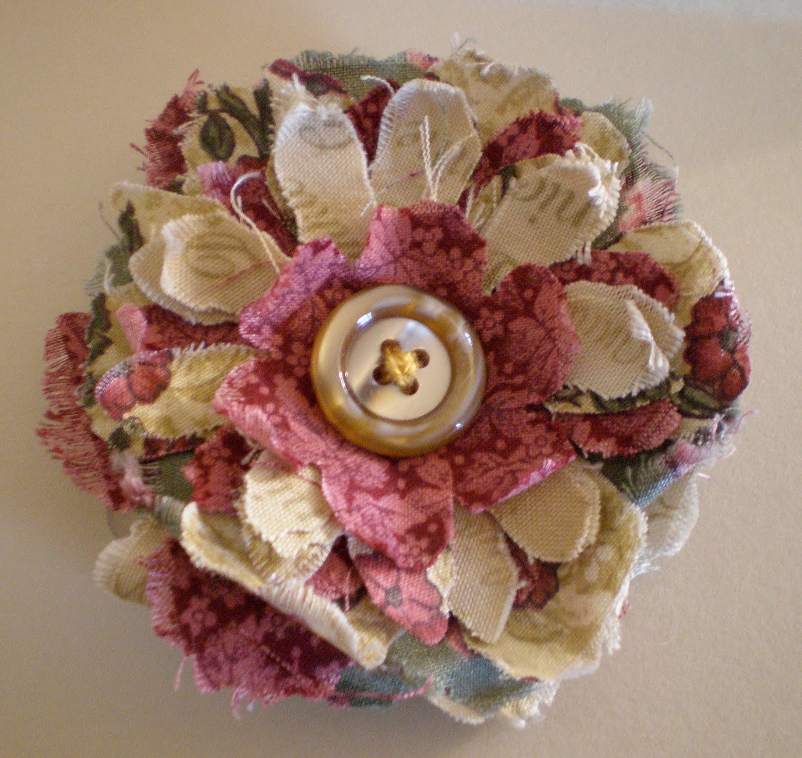 Creative Chatter New Direction Making Shabby Fabric Flower Brooches