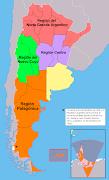 Las regiones geográficas formales de la Argentina son: argentina pol adtico regiones