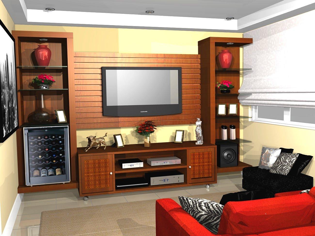 Medidas Para Sala De Tv ~  TV LCD LED MODERNO SOB MEDIDA MARCENARIA MOVEIS PLANEJADOS FURNITURE