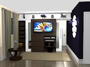 1 HOME THEATER PAINEL TV LCD LED MODERNO SOB MEDIDA MARCENARIA MOVEIS .