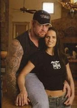 undertaker with his second wife Sara