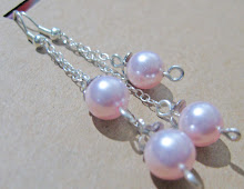 Pink pearls on a chain