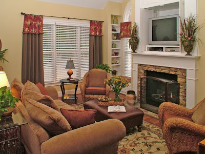 Prettyorganizedpalace arranging the furniture to welcome fall for Small living room arrangements with tv and fireplace