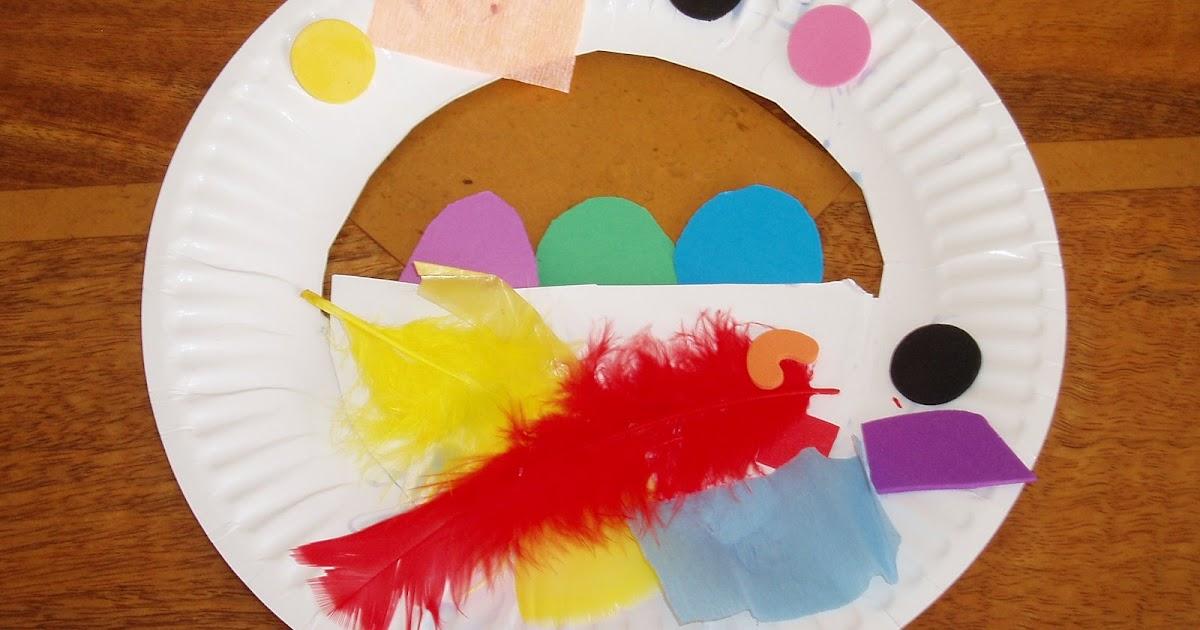 Preschool Art Easter Basket : Preschool crafts for kids easter basket paper plate